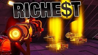 RICHEST Players give me BEST RARE Weapons! (POWER 130) | Fortnite Save the World