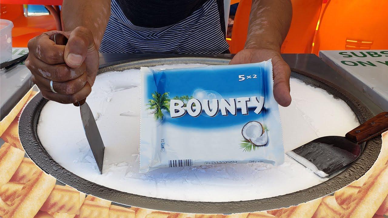 Madelaine & Bounty Ice Cream Rolls Satisfying ASMR Street Food Sounds