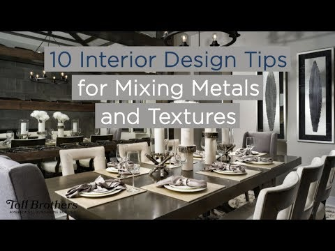 10 Interior Design Tips for Mixing Metals and Textures