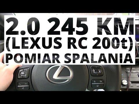 Lexus RC 200t 2.0 245 KM AT pomiar zuycia paliwa