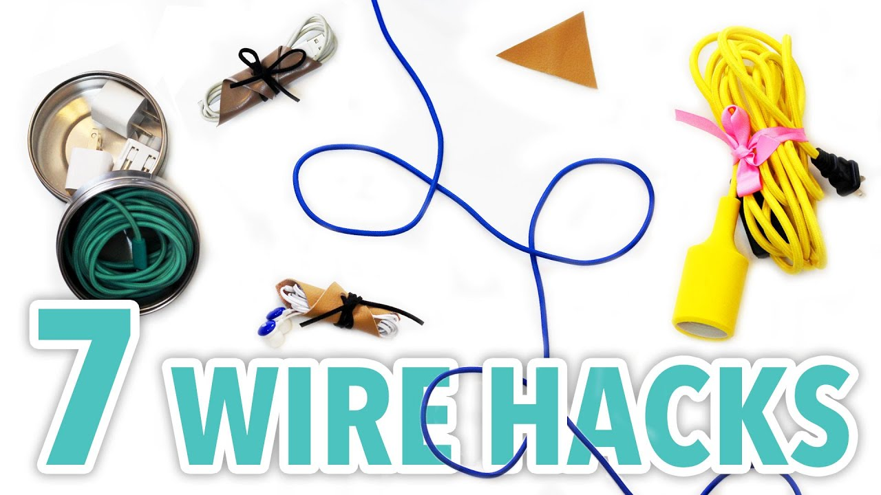 7 diy wire organization hacks hgtv handmade youtube solutioingenieria Image collections
