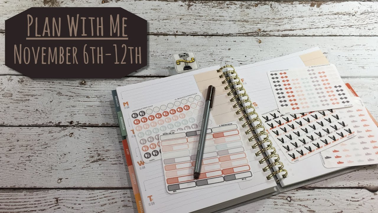 Plan with me november 5th 12th inkwell press planner for Plan me