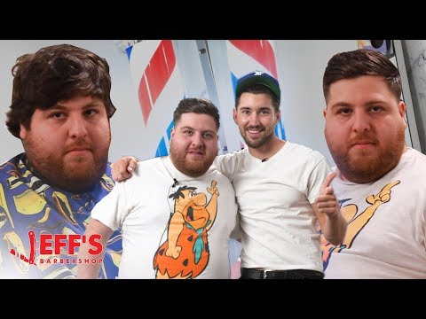 JONAH HILL HAIRCUT ft. DAVID DOBRIK | Jeff's Barbershop