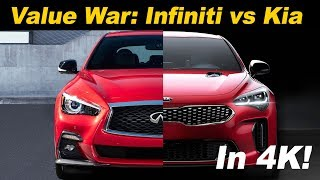 2018 Kia Stinger GT vs 2018 Infiniti Q50 3.0t Sport | Head to Head comparison