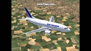 FS2004 - Lisboa - Strasbourg - Boeing 737-500 Air France