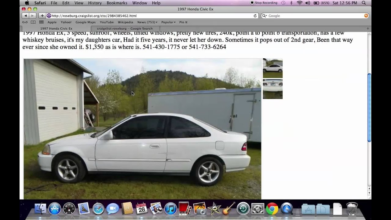 Craigslist roseburg used cars and trucks available under 2000 in 2012 youtube