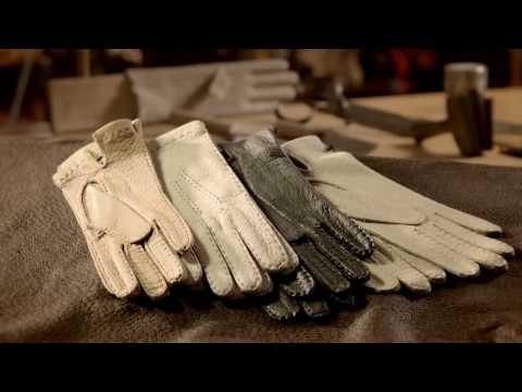 Изготовление кожаных перчаток Roeckl - ручная работа