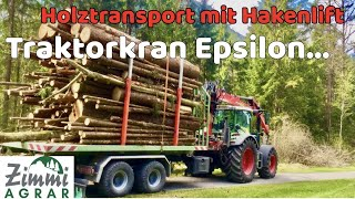 Fendt Vario 516 - Epsilon Holzkran C70L - IT Runner Hakenlift (GoPro) (Cabview)
