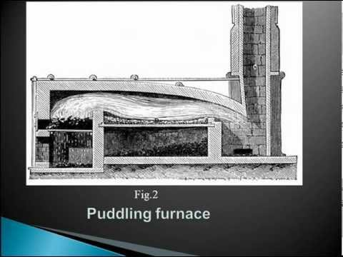 Production Of Wrought Iron  In Puddling Furnace