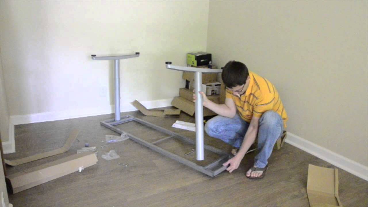Assembling Ikea Furniture Galant Desk