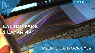 LAPTOP DUO DISPLAY DUO TOUCHSCREEN DUO 4K?! - Hands-On Asus Zenbook Pro Duo UX581
