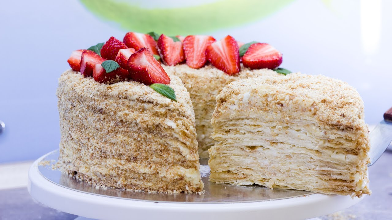 быстрый рецепт торта наполеон без холодильника