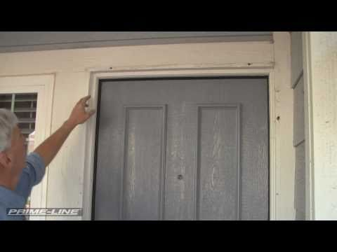 How-To: Install an Aluminum Swinging Security Screen Door