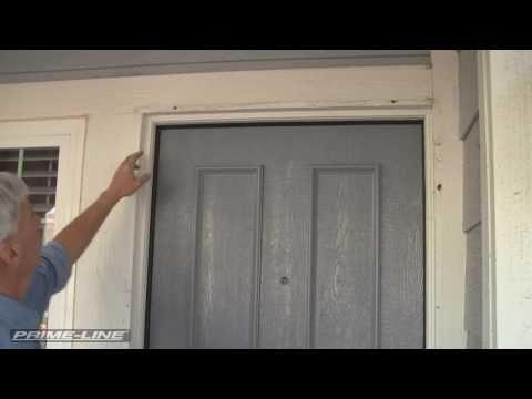How-To: Install an Aluminum Swinging Security Screen Door