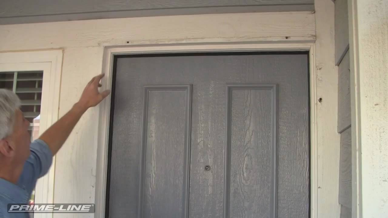 Aluminum Security Screen Door how-to: install an aluminum swinging security screen door - youtube