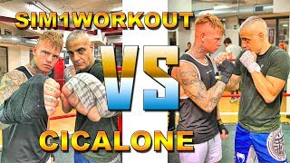 SFIDA DI BOXE TRA YOUTUBER SIM1WORKOUT VS CICALONE