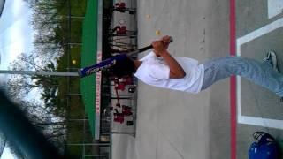 Abhinav at batting cages