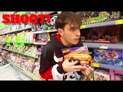 HUNTING IN THE SUPERMARKET GOT US KICKED OUT - VLOGMAS