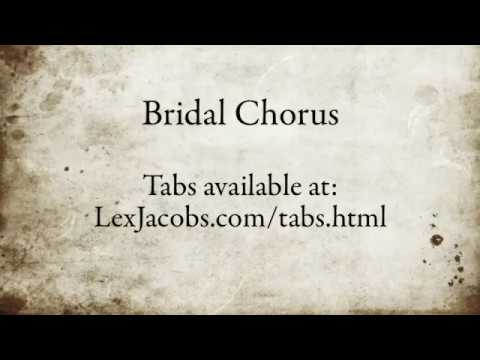 Here Comes the Bride / Wedding March Guitar. Easy Tabs. Fingerpicking, not just chords