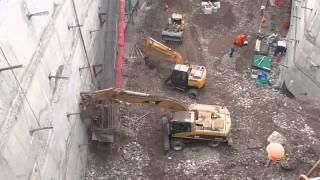 Culminando la excavación masiva y ejecución de muros anclados (trabajando el 7º sótano) thumbnail