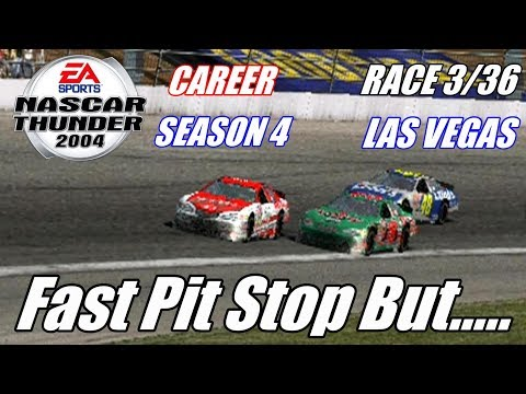 Fast Pit Stop But..... | NASCAR Thunder 2004 [PS2] Career Mode [Season 4] Race 3/36