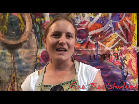 Visionary Art Journeys/Intuitive Painting Classes.  A Testimonial of Fire Tree Studios