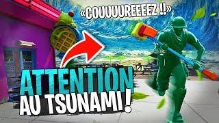 Fuir le Tsunami géant sur Fortnite Créatif !