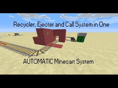 AUTOMATIC Minecart System - Ejecter, Recycler and Call System
