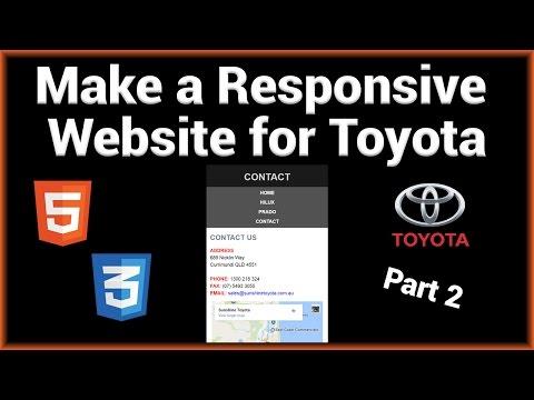 Make a Responsive Toyota Website Using HTML5/CSS3 (Part 2/2)