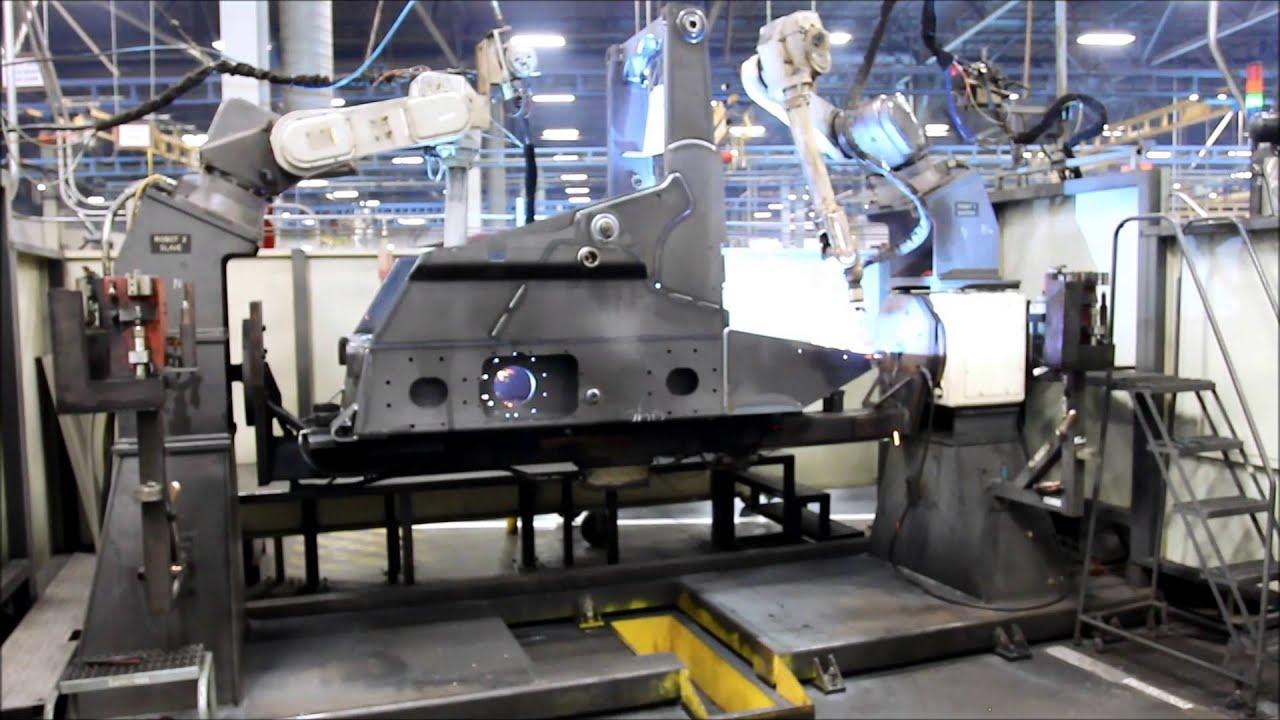 panasonic dual robot welding cell youtube rh youtube com