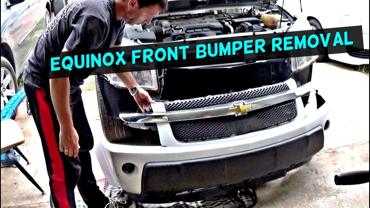 chevrolet equinox front bumper cover removal and replacement 2005 2006 2007 2008 2009 [ 1426 x 806 Pixel ]