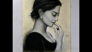 Drawing beautiful girl Sonam Kapoor