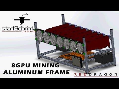 8 GPU Mining Aluminium Open Frame Presentation