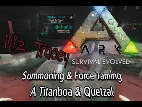 Summoning & Force Taming Titanboa & Quetzal W/Console Commands on Ark: Survival Evolved on Xbox One