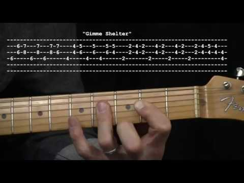"""Gimme Shelter"" by The Rolling Stones : 365 Riffs For Beginning Guitar !!"