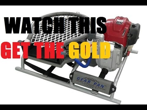 Gold Panning made easy !!  The new Gear Pan machine