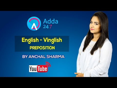 LIVE STREAMING _ ENGLISH -VINGLISH- PREPOSITION by Anchal Sharma