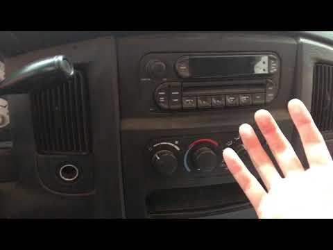2005 Dodge Ram Radio Removal