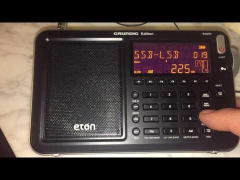 Polski Radio 1, 225 kHz heard in Genoa, Italy with Eton Satellit, using internal ferrite antenna