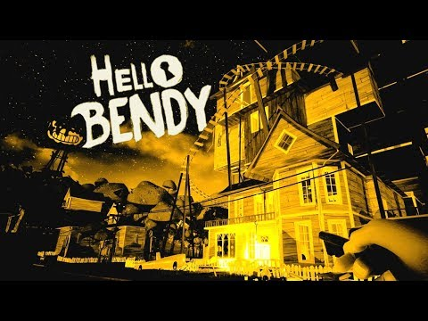 BENDY INVADES the HELLO NEIGHBOR's NEIGHBORHOOD! - Hello Bendy Gameplay