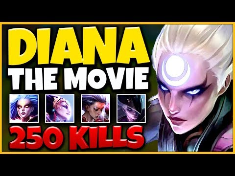 *MY NEW MAIN* DIANA REWORK THE MOVIE (BEST PLAYS 2019) - League of Legends