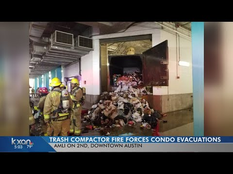 Trash-chute fire empties downtown apartment tower