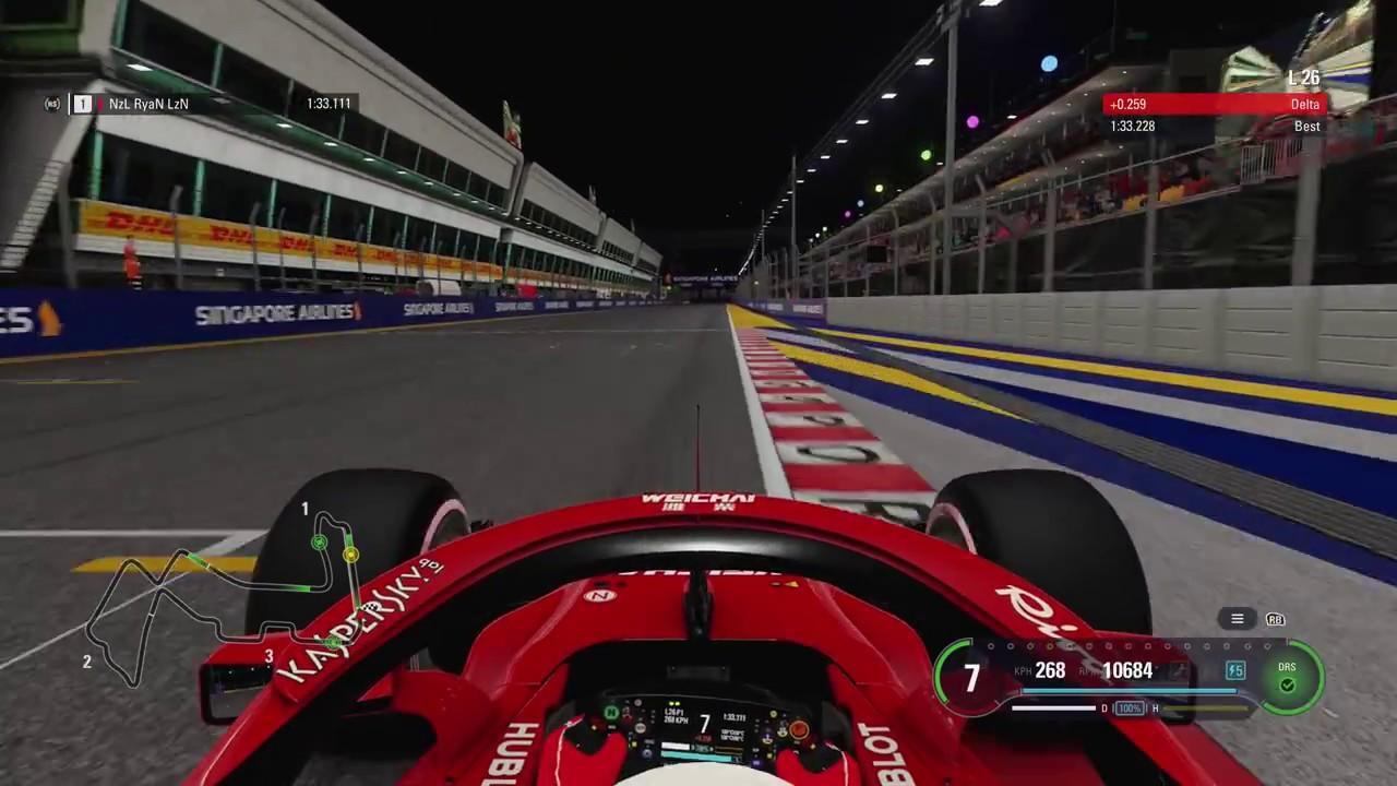 F1 2018 Singapore Hotlap Setup 1 33 195 Youtube