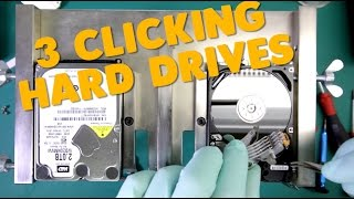 hard drives with clicking sounds | 3 dead head drives recovered