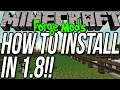 How To Install Mods In Minecraft 1.8 Using Forge!!
