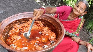 Spicy Mutton Pickle by granny in Andhra style || Myna Street Food