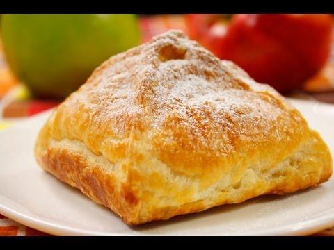 Слойки с яблоками видео рецепт