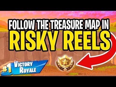 Follow the Treasure Map found in Risky Reels - Fortnite Season 5 Week 1 Challenge