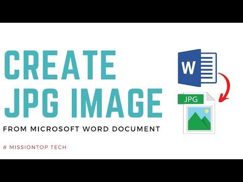 How To Create Jpg Image From Microsoft Word 2013 Or 2016