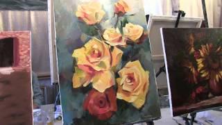 Как написать розы маслом. А.Южаков Живопись